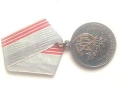 Medalla Al Trabajador Veterano. Hoz Y Martillo. URSS. Rusia Comunista. Desde 1974 - Rusia