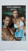 DOLCE & GABBANA Light Blu Parfum Carte - Perfume Cards