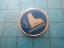 Pin211B Pin´s Pins / Beau Et Rare : SPORTS / PATINAGE ARTISTIQUE CLUB USF - Skating (Figure)