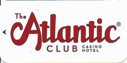 Atlantic Club Casino - Atlantic City, NJ - Room Key Card - Hotel Keycards
