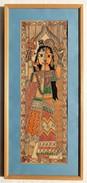 INDIA-Madhubani-Folk-Art-framed-painting-Shiva-amp-Parvati     INDIA-Madhubani-Folk-Art-framed-painting-Shiva-amp- - Asian Art
