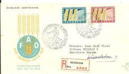 FDC 1963  REGISTERED HILVERSUN  SCANER - FDC