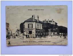 CROISSY 78 Etablissement Debest HOTEL DU CHEVAL BLANC Telephone 70 Vesinet CPA Postcard Animee - Croissy-sur-Seine