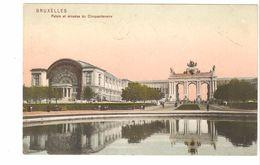Bruxelles / Brussel - Palais Et Arcades Du Cinquantenaire - édition Trenkler & Co - 1909 - Colorisée - Forêts, Parcs, Jardins