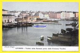 CPA LIVORNO - VEDUTA DELLA DARSENA PRESA DALLA FORTEZZA VECCHIA - 1905 BELLA - Livorno