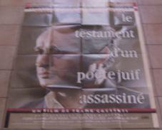 AFFICHE CINEMA FILM LE TESTAMENT D'UN POETE JUIF ASSASSINE + 8 Photos Exploitations WIESEL JONASZ CASSENTI 1987 JUDAICA - Posters