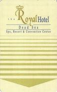 The Royal Hotel Dead Sea - Hotel Room Key Card - Hotel Keycards