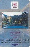 The Orchid Hotel Eilat, South Beach Israel - Hotel Room Key Card - Hotel Keycards