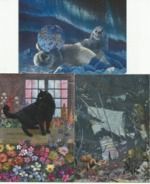 DUFEX Spezialeffekt Silbereffekt 3 Karten - Cartes Postales