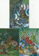 DISNEY Les Couleurs Magiques Disney Spezialeffekt Silbereffekt 3 Karten - Disney