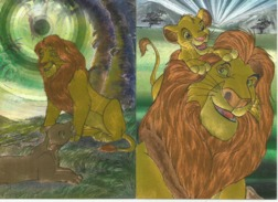 DISNEY Les Couleurs Magiques Disney Spezialeffekt Silbereffekt Löwe Lion 2 Karten - Disney