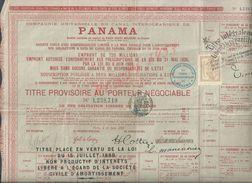 ANCIENNE ACTION DU PANAMA 1889 PETITE DECHIRURE : - Non Classés