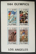 MNH Philippines 1984 - Los Angeles Olympics, Wind Surfing, Boxing, Athletics, Cycling  SS (Blue Stars) - Summer 1984: Los Angeles