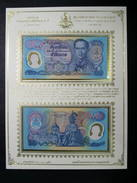 Thailand Banknote Album Sheet 50 Baht 1996 Golden Jubilee Cele HM Accession To Throne P#99 2 Pcs _2 - Thailand