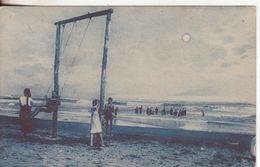 5-Località Anonima Da Identificare-Tema:Spiaggia-Mare-Sport-Giuochi-Altalena-v.1929 X Paternò-Catania - Cartoline