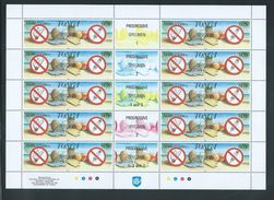 Tonga 1993 Health & Fitness Set Of 4 X 10 In Full Sheets With Labels & Imprints MNH Specimen O/P - Tonga (1970-...)