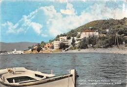"06953 ""POROS - LA PLAGE PITTORESQUE D'ASKELI"" CART. ILL. ORIG. SPED.  1965 - Grecia"