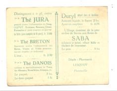 """Calendrier De Poche 1924 - Savon """" SABA """", Thé, Emplâtre,... Pharmacie Lesquoy à FLORENVILLE (b209) - Calendriers"""
