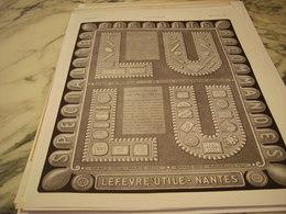 ANCIENNE PUBLICITE BISCUIT LEFEVRE UTILE LU 1926 - Posters