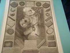 ANCIENNE PUBLICITE PETIT BEURRE LU NANTES  1928 - Posters