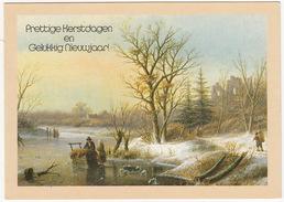 Wenskaart Met Braille Schrift - 'Prettige Kerstdagen En Gelukkig Nieuwjaar' -1989- (Holland) - BRAIILE - Nieuwjaar