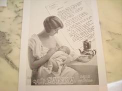 ANCIENNE PUBLICITE CAFE SANKA SANS CAFEINE   1930 - Posters