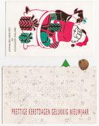 2 Wenskaartjes Met Braille Schrift - 'Prettige Kerstdagen En Gelukkig Nieuwjaar' - (Holland) - BRAIILE - Nieuwjaar