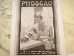 ANCIENNE PUBLICITE CHOCOLAT PHOSCAO  EXQUIS 1930 - Posters