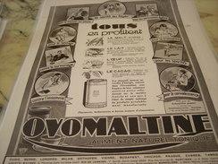 ANCIENNE PUBLICITE TOUS EN PROFITENT OVOMALTINE 1928 - Posters
