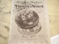 ANCIENNE PUBLICITE LA MARQUISE DE SEVIGNE BAPTEMES 1928 - Posters