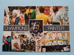 KARIKATURIST NESTEN ( Kouter 73 ) CHAMPIONS PAINTER - Anno 19?? ( Zie Foto Details ) !! - Kuurne