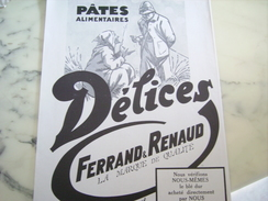ANCIENNE PUBLICITE PATE ALIMENTAIRE DELICE BLE DUR 1929 - Posters