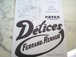 ANCIENNE PUBLICITE PATE ALIMENTAIRE  DELICE METROPE COLONIES 1928 - Posters