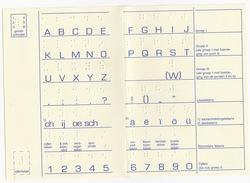 Het NEDERLANDS & Het BRAIILE Alfabet In BRAILLETEKENS  En DRUKLETTERS - (Brailleschrift - Dark & Light Blind Care) - Oude Documenten