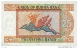 BURMA P. 59 25 K 1972 UNC - Myanmar
