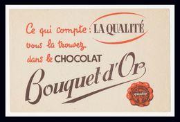 Buvard - BOUQUET D'OR - CHOCOLAT - Blotters