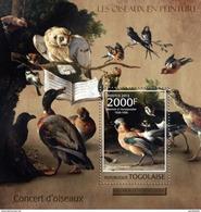 TOGO 2013 SHEET AVES ARTE PINTURAS BIRDS ART PAINTINGS OISEAUX PEINTURES Tg13120b - Togo (1960-...)