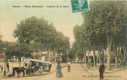 "CPA FRANCE 06 ""Vence, Avenue De La Gare"" / CARTE TOILÉE - Vence"