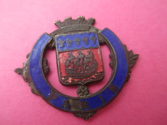 Insigne Ecusson  à épingle /France /Armoiries  De Paris/ Mi-XIXéme     MED142 - Médailles & Décorations