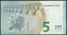 € 5 SPAIN  VB V010 I5  DRAGHI  UNC - 5 Euro