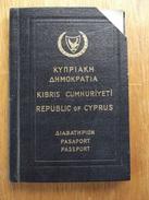 Passeport, Passport, Reisepass, Le Chypre, Cyprus. 1966, Nicosia - Documents Historiques