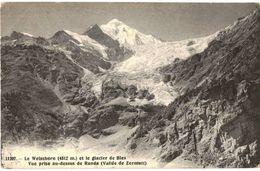 CPA N°3590 - WEISSHORN ET LE GLACIER DE BIES - VUE PRISE AU DESSUS DE RANDA - VS Wallis