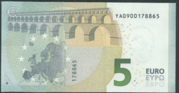 € 5 GREECE  Y001 J1  DRAGHI  UNC - 5 Euro