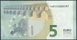 € 5 GREECE  Y001 I5  DRAGHI  UNC - 5 Euro