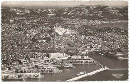 Z3365 Marseille - Vue Generale Aerienne - Le Bassin De La Joliette Et Vieux Port - Navi Ships Bateaux / Viaggiata 1956 - Joliette, Zone Portuaire