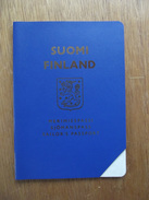 Passeport, Passport, Reisepass, Finlande, Suomi, Passeport Pour Marin, Document En Blanc, C. 1975. Seaman's Passport - Documents Historiques