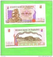 ZIMBABWE - 1997/5 Dollars/Hills UNC - Zimbabwe