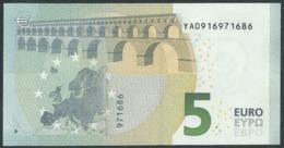 € 5 GREECE  Y001 B3  DRAGHI  UNC - EURO