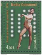 ROMANIA, 2016, MNH, GYMNASTICS, NADIA COMANECI, THE FIRST 10 IN OLYMPIC GYMNASTICS, 1v - Gymnastics