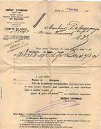 VP10.535 - Lettre - Crédit Lyonnais à PARIS - Chemins De Fer Russes - Bank & Insurance
